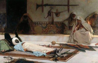 1889_День похорон (Смерть эмира) (The Funeral Day, a scene from Morocco (Death of the Emir) )_280 х 425 см_х.,м._Париж, Музей Пти-Пале.jpg
